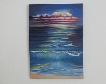 Oil painting Sea with Beach 2, Gr.: 50 x 70 cm wave Landscape