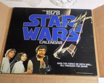 STAR WARS Calendar - 1978 - Original - Use this coupon code at checkout for 25% off:  NICKZ6151C