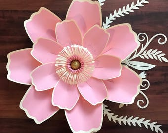 PDF Petal #123 Paper Flower Template with Base, DIGITAL Version - Trace and Cut File for DIY Giant Paper Flower
