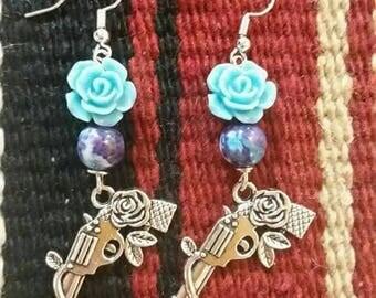 Guns and roses earrings