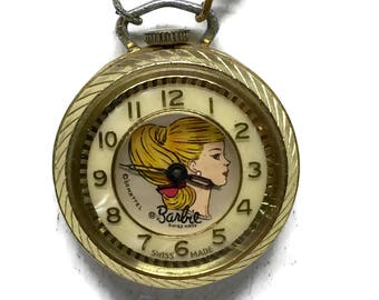 Vintage Barbie Pocket Watch 1964 Mint Condition Fully Operational