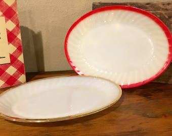 Vintage Fire King Shell Platter
