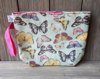 Butterfly fabric project bag
