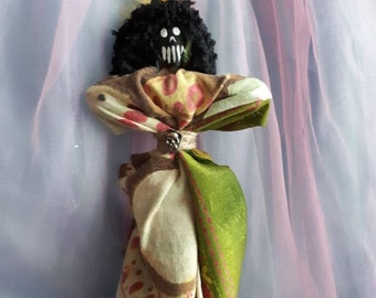 Voodoo Doll Authentic Hand Made New Orleans Style, Success, Understanding, Attractiveness, Confidence, Art Doll Vodou Poppet