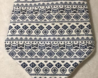 XL - Greek influence bandana bib