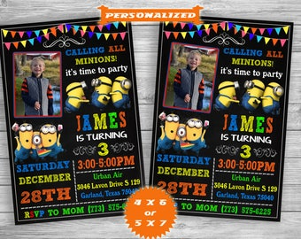 Minion Invitation, Minion Party, Minion Birthday Invitation, Minion Birthday Party, Boy Girl Minion Invitation – Digital Printable