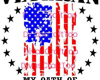 Veteran Oath SVG