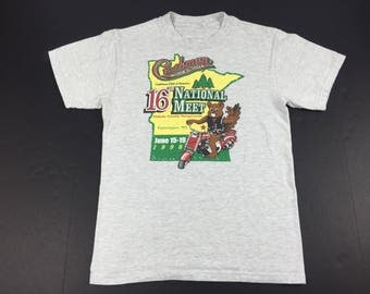 Vintage 1998 Cushman club of america t-shirt motor scooter mens S