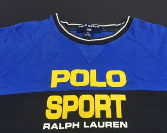 Vintage 90s Ralph Lauren Polo Sport t-shirt mens XL spell out PRL