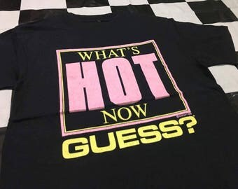 Vintage 80's Guess shirt What's hot now 1989 Guess? By George marciano