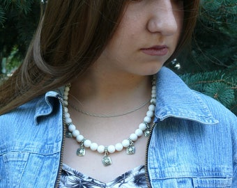 Nacre jewelry Nacre necklace Nacre nacre necklace with jewelry wire authentic necklace Natural stones Necklace Gemstone Mother of pearl