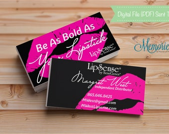 LipSense, LipSense Business Card, LipSense Business, LipSense Marketing, SeneGence, Be As Bold As Your Lipstick, Independent Distributor
