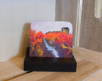 Dollar Glen coaster from a painting by Pamela Palmer