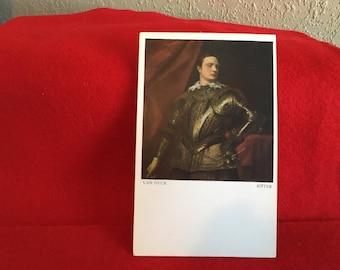 Vintage Art Museum Postcard-Van Dyck-Ritter