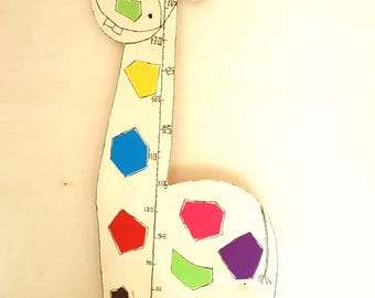 Metro wall measure Height children giraffe