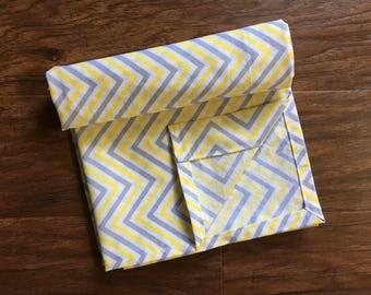 Cotton Receiving Baby Blanket, Cotton Sheet, Baby Shower Gift, Nursery Bedding, Boy Blanket, Girl Blanket, Zig Zag, Baby Branch Boutique