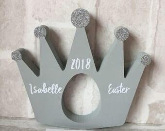 Kinder egg holder crown, easter egg holder, princess easter gift, easter keepsake