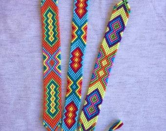 Colorful braided bracelet, Knotted bracelet,Handwoven bracelet, String bracelet,Wrist band,Bracelet bresilien, Friendship bracelet,Boho
