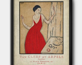 Van Cleef & Arpels · 1920s · French Advertisement · Jewelry · Vintage · Instant Download · Printable #194