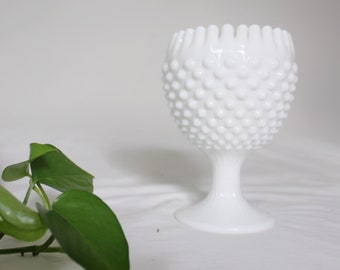 Vintage milk glass goblet