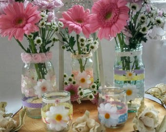 Pastel Wedding Decorations Summer Decor Decorated Jars Centrepieces