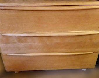 Heywood Wakefield Champagne Three Drawer Dresser 1950