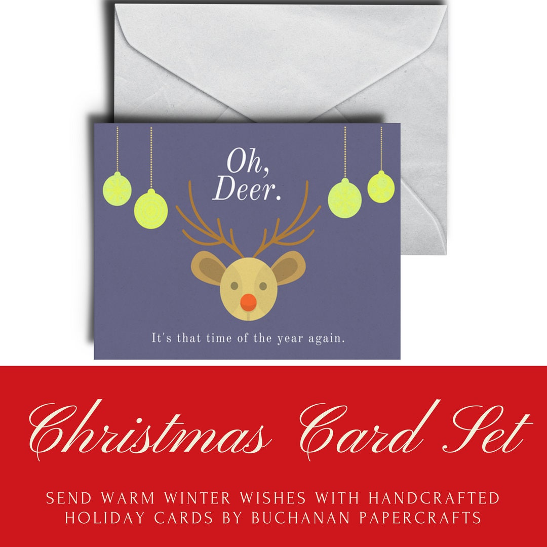 Oh deer christmas cards christmas card set oh deer holiday cards oh deer christmas cards christmas card set oh deer holiday cards funny holiday m4hsunfo Gallery