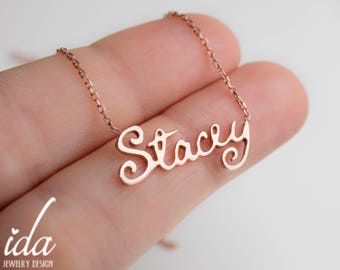 Custom Choker Necklace - Rose Gold Name Necklace - Personalized Choker Necklace - Bridesmaid Gift - Name Jewelry - Gift For Her - For Women