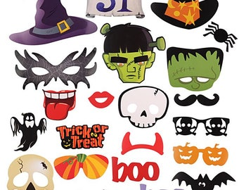 Photo booth props, Halloween props, party props, decoration props 22pcs