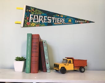 Vintage Forestiere Fresno CA Pennant