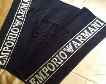 New big large embroidered beach towel armani  inspired  towel cotton