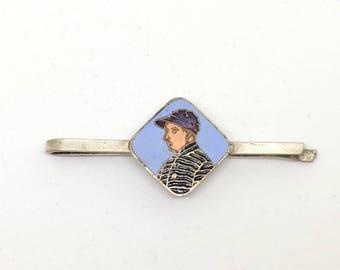 Vintage Tie Bar / enamel bijoux for men/ nectie accessory