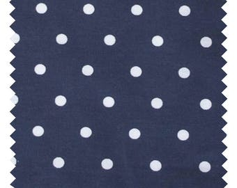 "Fabric 100% cotton sold by the yard ""Poppins Navy"""