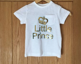 Little Prince Boys Age 4 tshirt - lovely gift for boy - brother top