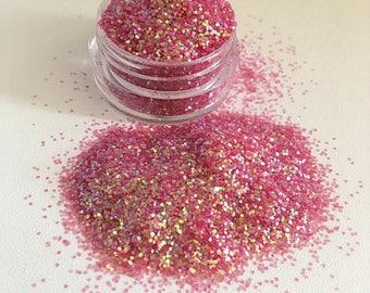 Iridescent pink sherbert loose glitter pot