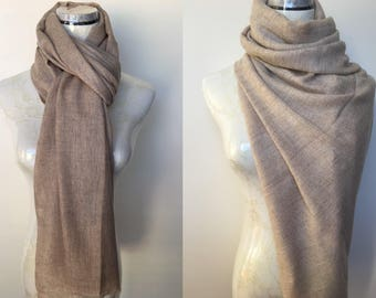 100% Alpaca Pashmina Shawl Scarf Wrap Cashmere Silk Wool Stole Handwoven Women