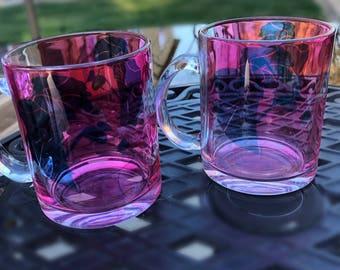 Set of 2 - Custom Clear Sublimation Mugs - 11oz - Custom Mugs - Custom Clear Mugs