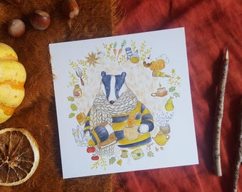 Hufflepuff - illustrated card