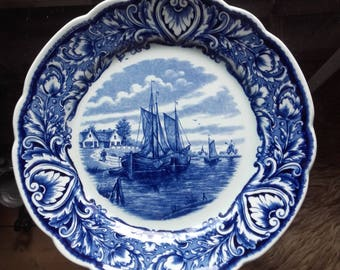 Blue and white Maastricht wall plate