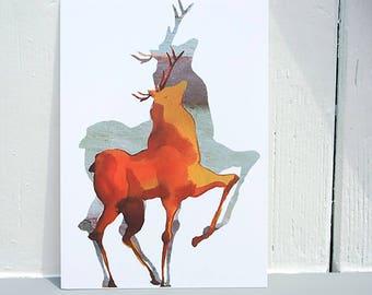 Postcard Illustration deer card
