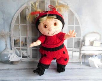 Amigurumi Ladybug Crochet Ladybug Knitted  Ladybug Plush Nursery Decor Ladybug Action Figure Amigurumi Toy Ladybug stuffed toys