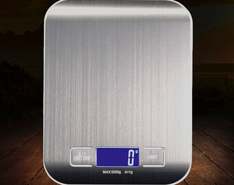 Stainless Steel Kitchen Scale 5 kg / 1 g