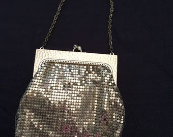 Whiting & Davis Silver Mesh Bag