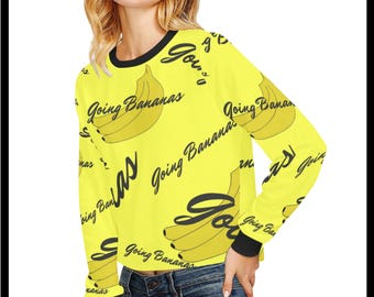 Going Bananas Cropped Pullover Sweatshirt