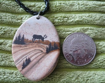 Stag on Picture jasper