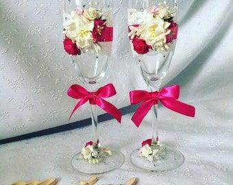 Wedding glasses, champagne glasses