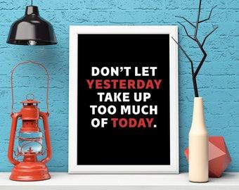Motivational Wall Decor, Inspirational Wall Art, Motivational Quote, Typography Wall Art, Inspirational Quote, Typography Print, Printable