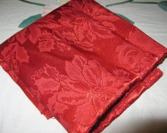 Vintage Red Brocade 54cms x 128cms
