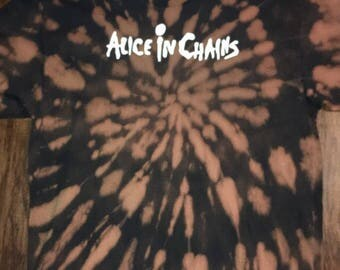 Alice In Chains tie tee dye band T shirt