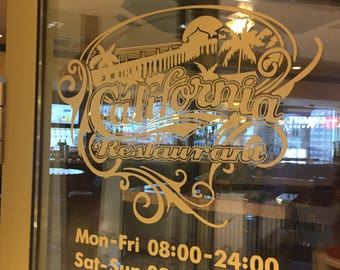 Business Hours Decal Etsy - Custom vinyl decals for business